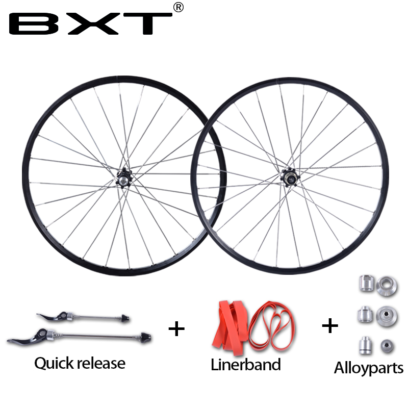 2020 new MTB Mountain Bike Wheelsets 4 Bearing Hub Bike Parts Bike Aluminum Alloy Wheel Sets 28Holes Cycling Wheels free ship
