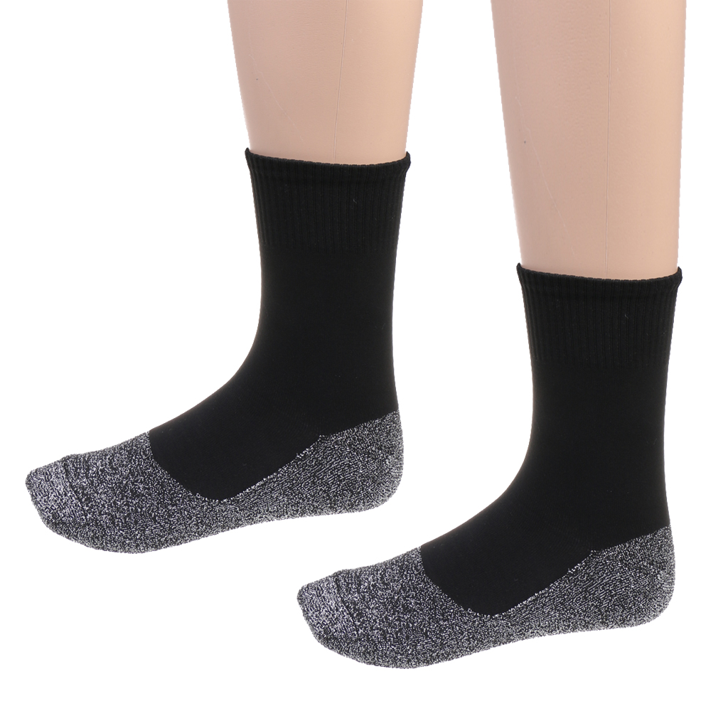 1 Pair Men Women Winter Keep Warm Socks Thermal Practical Casual Stockings Balck Grey