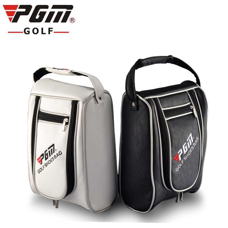 Pgm Golf Shoes Bags For Man Pu Leather Waterproof Sport Bag Portable Golf Shoes Bag Women Outdoor Travel Shoes Package D0052