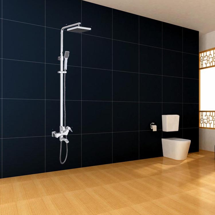 Real Snyder new full copper rain shower kit can lift rotating double shower faucet Woodpecker series