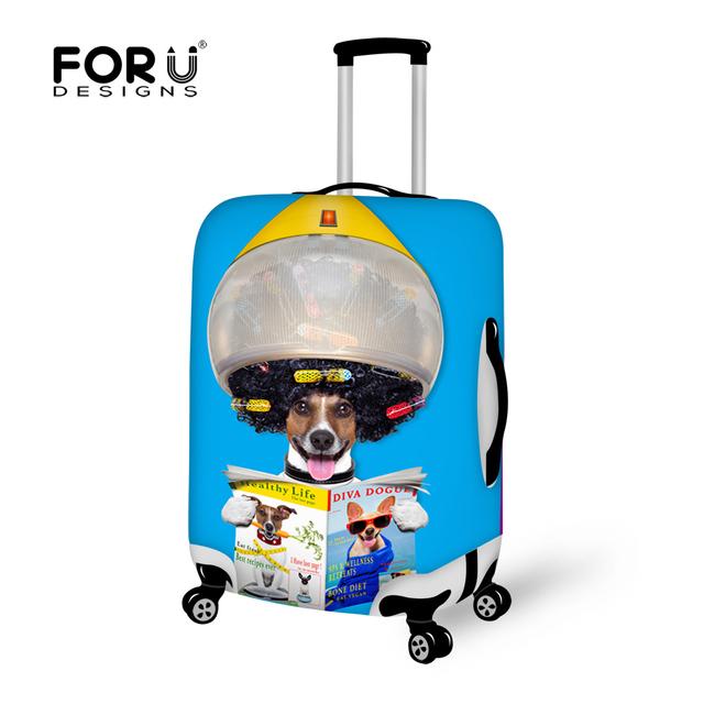 Marca Funny Pet Tampa Proteger Trecho Cópia Do Cão Mulheres Elastic Bagagem de Viagem Mala Capa para 18-30 Polegada Caso bagagem Covers
