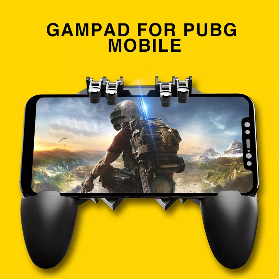 For PUBG Mobile Phone Game Smartphone Control Gamepad Shooter Six Finger Joystick Gamer Trigger Controller Games Accessories