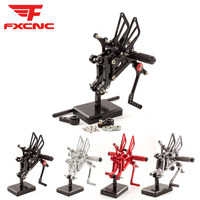 For Aprilia RS125 2T 1996 2010 09 08 07 06 CNC Adjustable Motorcycle Foot Rest Rearset Footpegs Footrest Foot Pegs Pads Pedals