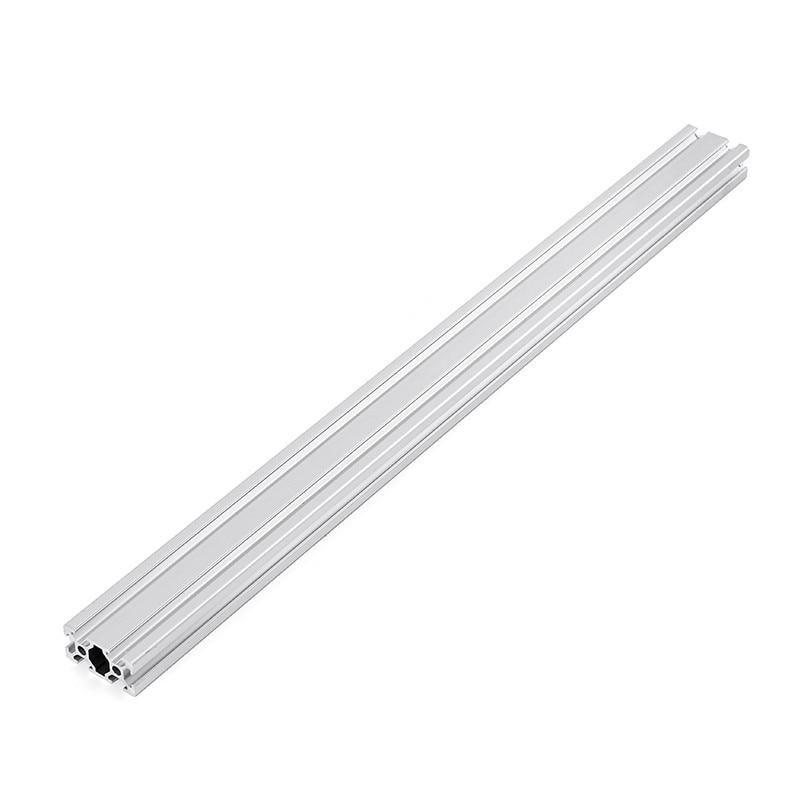 Silver 1000mm Length HL2040 T-Slot Aluminum Profiles Extrusion Frame For CNC 3D Printers Plasma Laser Stand FurnitureSilver 1000mm Length HL2040 T-Slot Aluminum Profiles Extrusion Frame For CNC 3D Printers Plasma Laser Stand Furniture