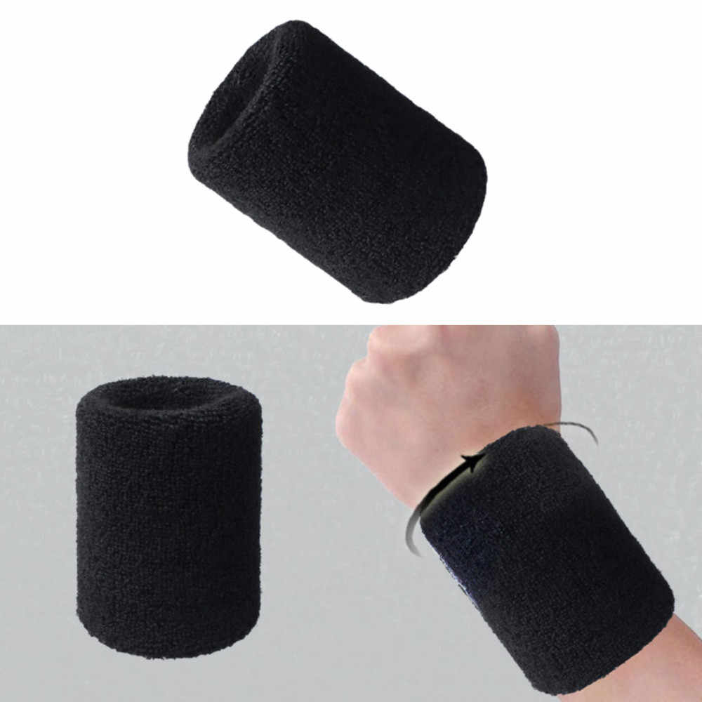 Напульсники спортивный напульсник повязка на руку пот Скоба для запястья обмотка и изоляция для спортзала Волейбол Баскетбол сосание хлопка A30527