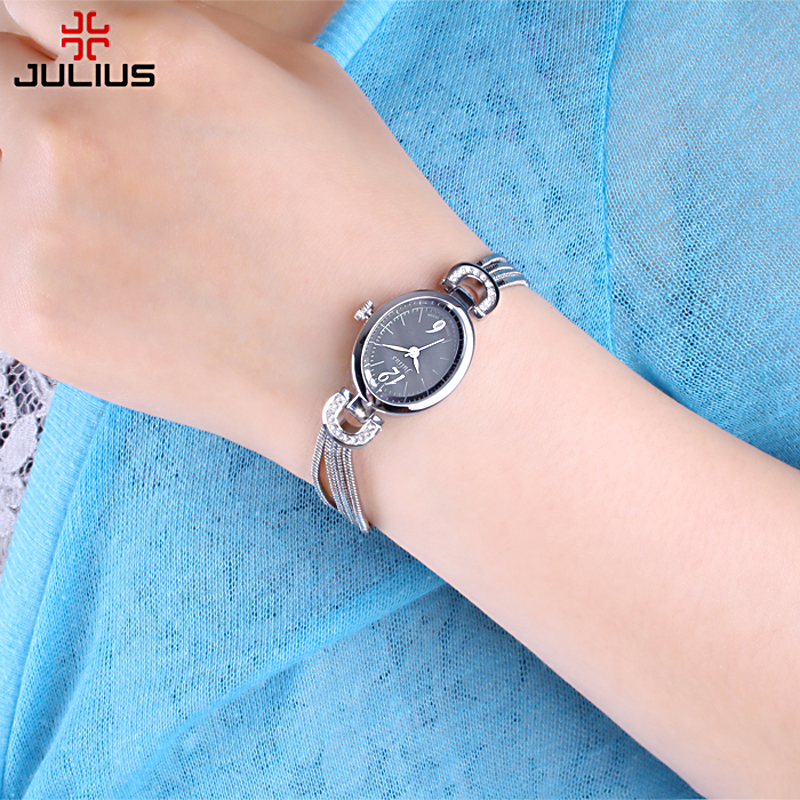 Top Julius Lady Woman Wrist Watch Fashion Hours Korea Dress Bracelet Shell Tassels School Student Girl Birthday Mother's Gift