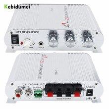 Amplificador hi fi automotivo de 3 canais, amplificador estéreo mega bass lp 838 12v 300w, conexão com celular e dvd reprodutor mp3 mp4 portátil subwoofer