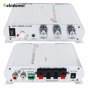 Image 1 - Car 3 Channel Amplifier Stereo Mega Bass LP 838 12V 300W Hi Fi Connect With Phone PC DVD Player MP3 MP4 Portable Subwoofer