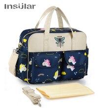Insular Cartoon matka macierzyńska torba na pieluchy dla niemowląt duża pojemność mumia pielęgniarstwo torba na ramię mama torebka pieluszka dla niemowląt torby do wózka