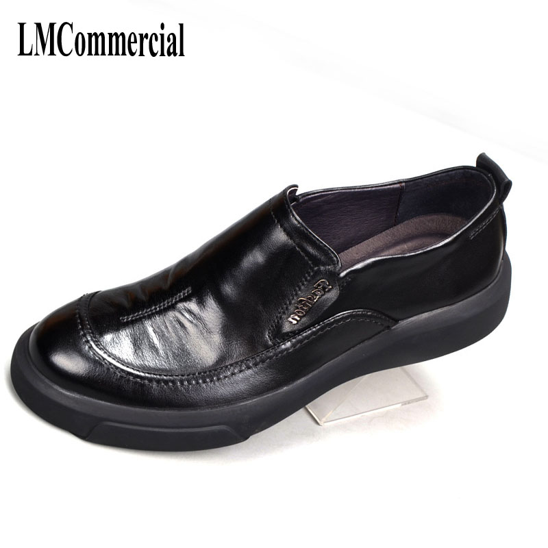 Men Dress Shoes,Summer Oxfords Spring British men's leather shoes Business Men casual Shoes  Flats Fashion High Quality Genuine