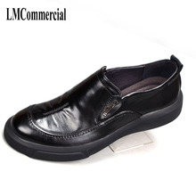 Men Dress Shoes,Summer Oxfords Spring British men's leather shoes Business Men casual Shoes  Flats Fashion High Quality Genuine все цены