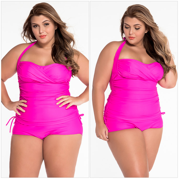 8c9a312809 Hot Plus Size Bathing Suits For Women Rosy Blue Convertible Tie Panels  Brazilian Swimsuit Biquini LC41775 Costumi Da Bagno Donna-in One-Piece  Suits from ...