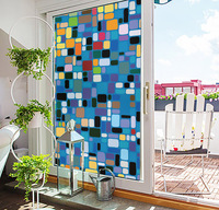 Professional Custom Complete Pattern Window Film Color Mosaic Vinyl Static Cling Self Adhesive Privacy Glass Stickers