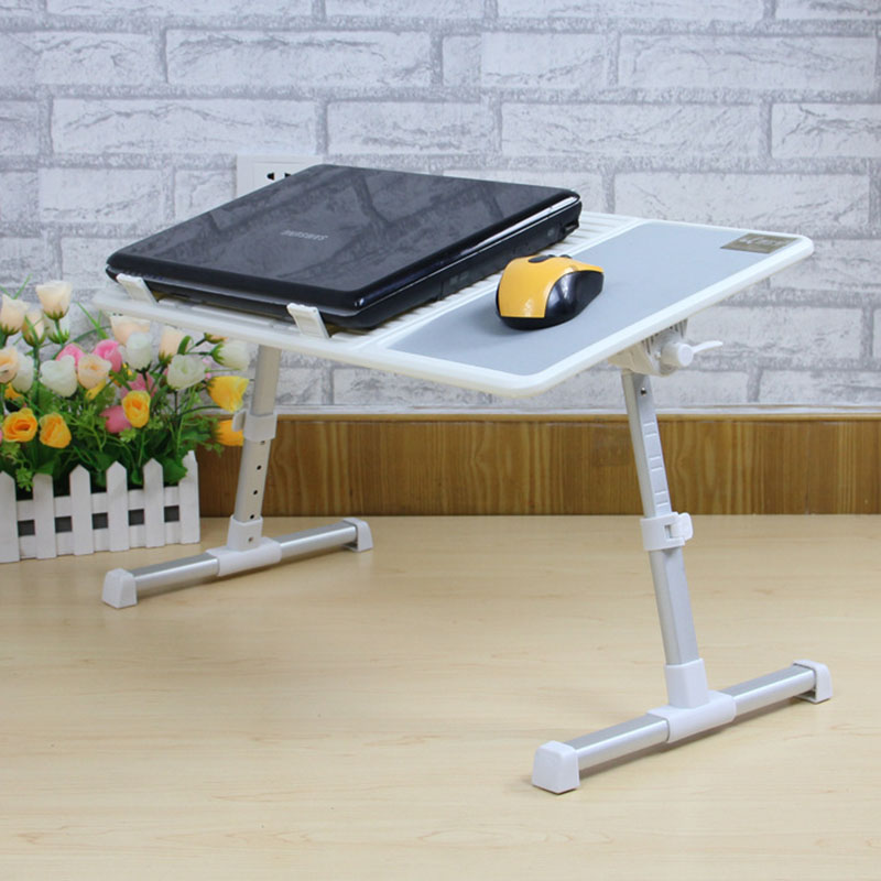Fashion Modern Laptop Table Adjustable Portable Folding Computer Desk Student Dormitory Laptop Table Stand Tray With Cooling Fan lazy folding bed on a laptop computer desk student dormitory receive table can be portable writing desk
