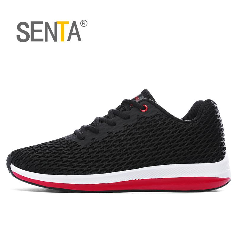 SENTA  Running Shoes For Men 2017  Mesh Breathable Sneakers Sport Shoes Size 11 12 13 Mens Designer Sneakers Large Size Runner
