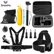 цена на SnowHu for Gopro accessories go pro mount big case sjcam for gopro hero 7 6 5 4 3  session sj4000 sj5000X xiaomi yi action SH81V