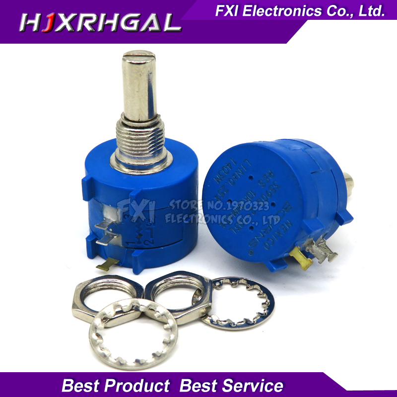 1PCS <font><b>3590S</b></font> series resistance 1K 2K 5K 10K 20K 50K 100K ohm Potentiometer Adjustable Resistor 3590 102 202 502 103 <font><b>3590S</b></font>-<font><b>2</b></font> image