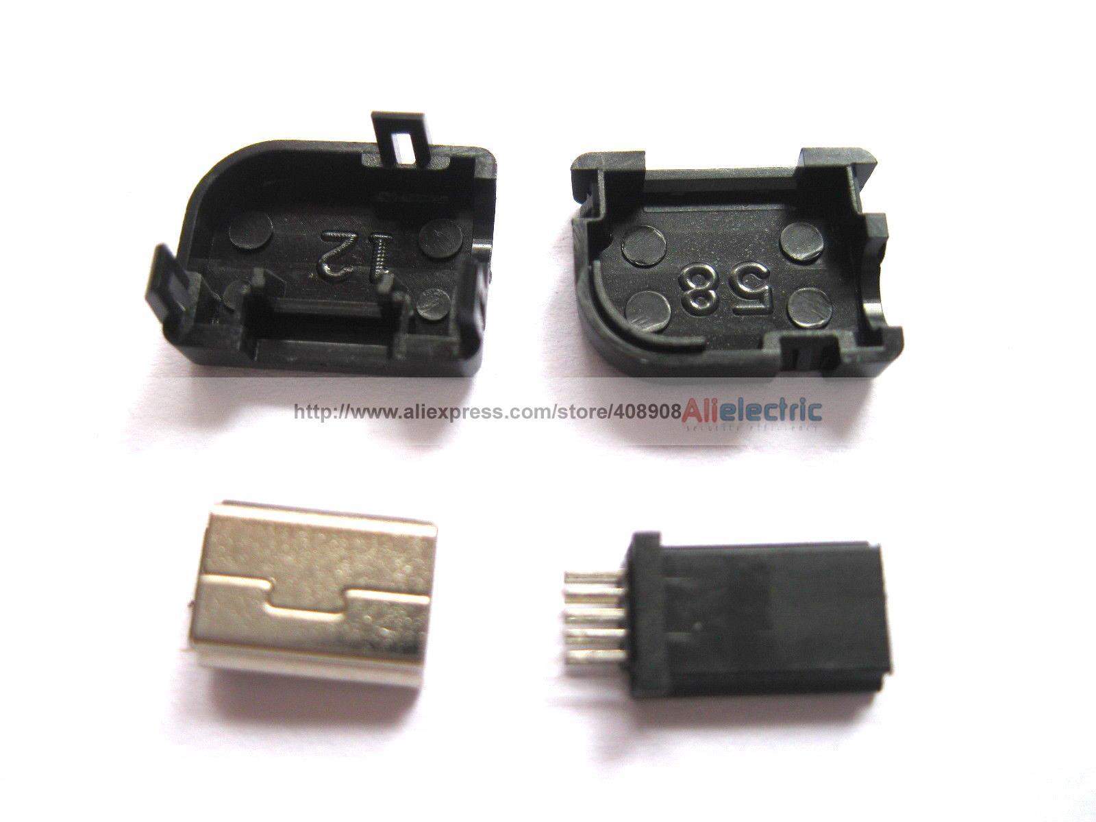 ФОТО 100 Mini USB Plug 10 Pin for Philips 90 Degree Plastic