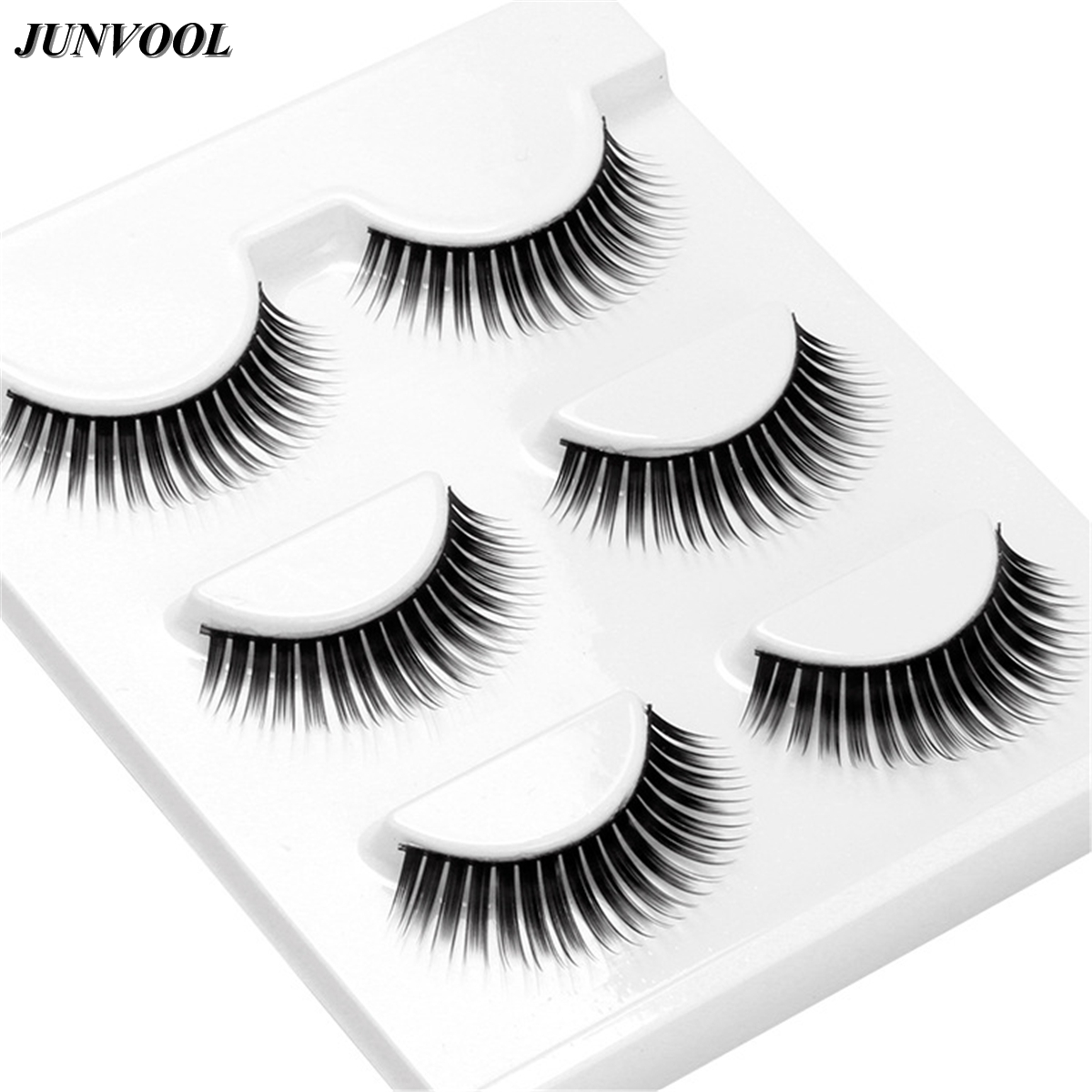 Makeup False Eyelashes 15 Pairs Natural Make-Up Thick Fake Eye Lashes Thick Black Comfortable Eyelash Sexy False Eye Lash