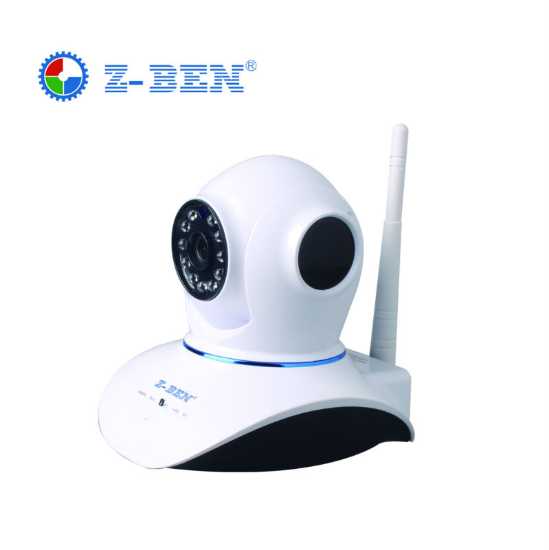 ZBEN IPDH07 ONVIF 720P MegaPixel HD Wireless IP Camera with Pan/Tilt TF Card Slot and IR Cut Z-BEN 720P(1280x720)  IP Camera wanscam wireless ip camera hw0021 3x digital zoom pan tilt pt onvif p2p ir cut night vision security cam with tf card slot
