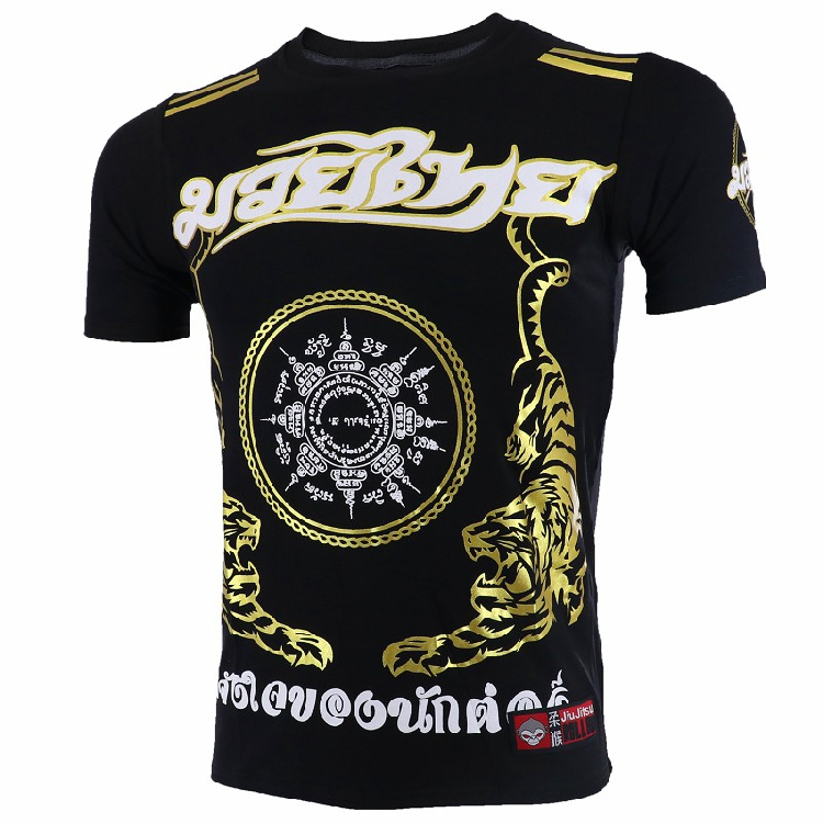 Soft Monkey ROLLHO Fighting Muay Thai Tiger Short-sleeved T-shirt MMA Sanda  Martial Arts Kung Fu Seek Boxing