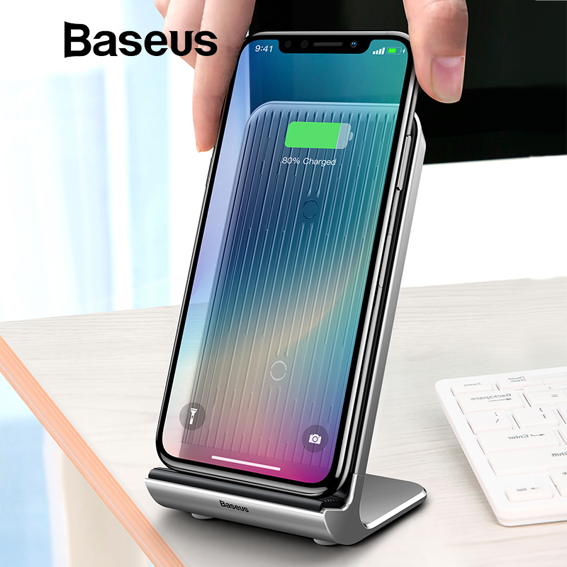 Baseus Air-cooling Wireless Charger 10W For iPhone X Xs Max XR Vertical Desktop Wireless Charging Charger For Samsung Note 9 S9 Baseus Air-cooling Wireless Charger 10W For iPhone X Xs Max XR Vertical Desktop Wireless Charging Charger For Samsung Note 9 S9