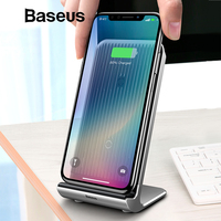 Baseus Air cooling Wireless Charger 10W For iPhone X Xs Max XR Vertical Desktop Wireless Charging Charger For Samsung Note 9 S9