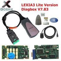 Nuevo Diagbox V7.83 Lexia3 Lexia 3 V48  herramienta de diagnóstico Lexia-3 PP2000  conector de diagnóstico para Citroën  Peugeot