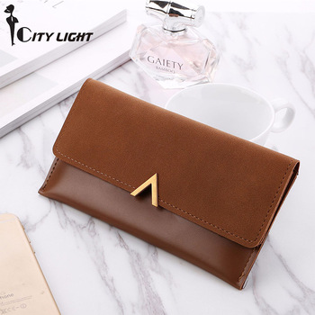 2018 New Women Wallets Hasp Lady Moneybags Zipper Coin Purse Woman Envelope Wallet Money Cards ID Holder Bags Purses Pocket