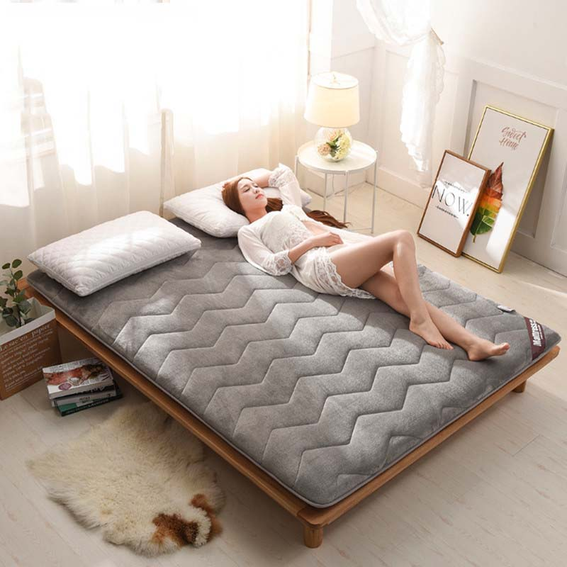 Chpermore Thicken Fale Tatami Foldable Student single dormitory Mattress Toppers For Family Bedspreads King Queen Twin
