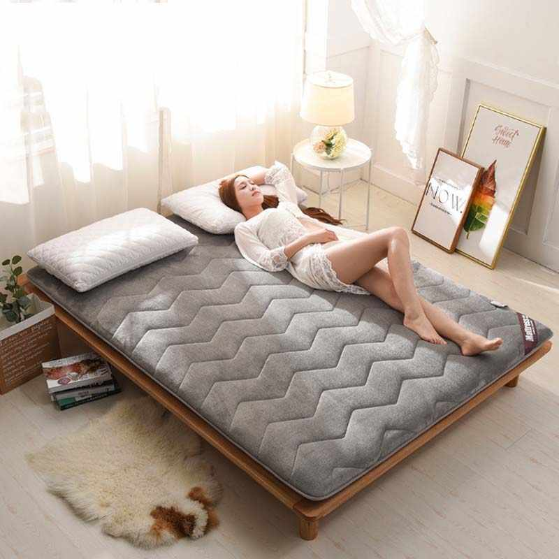 Chpermore Thicken Fale Tatami Foldable Student single dormitory Mattress Toppers For Family Bedspreads King Queen Twin Full Size