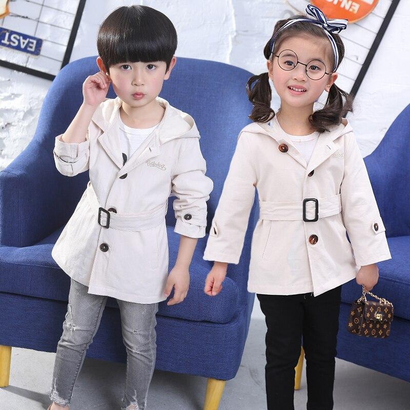 От 2 до 8 лет Детское пальто на весну для девочек 2018 Новый o-образным вырезом Детская куртка для девочки костюм для новорожденных мальчиков с ...