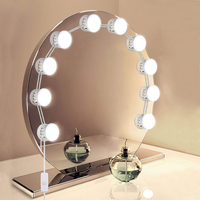 USB Powered Hollywood Makeup Mirror Vanity LED Light Bulbs Kit 5 level Adjustable Brightness Make Up Light For Dressing Table