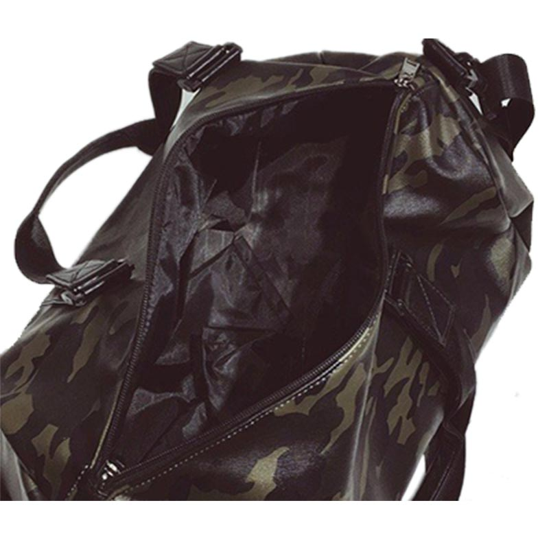 6b57156a52c4 US $25.41 48% OFF Pu Leather Gym Bag Male Bag Top Sport Shoe Bag for Women  Fitness Over The Shoulder Yoga Bags Travel Handbags Camouflage XA734WD -in  ...