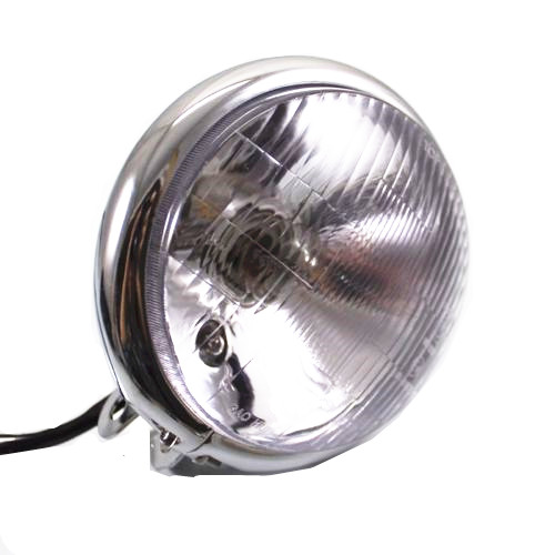 цена на Motorcycle Head Light Headlight Lamp For Harley Bobber Chopper Cruiser Cafe Racer Old School Custom