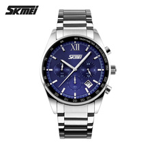 2020 New popular SKMEI Brand Men Business Casual Quartz Watches Fashion Personality auto date chronograph stainless steel Watch
