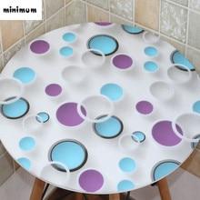 2017 nuevos patrones Geométricos PVC mantel Redondo manteles 3D mesa de café cubierta de tabla impermeable de PVC de Corea envío gratis