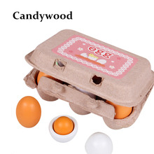 Mother Garden Kids Kitchen Wooden Lovely Eggs Toy Food Pretend Play House Kitchen Toys for Children Girl