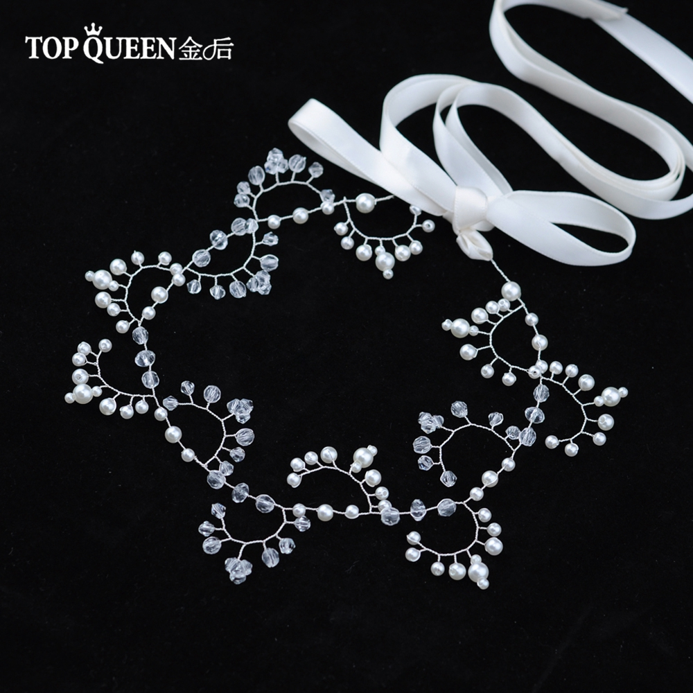 TOPQUEEN HP94 Wedding Tiara Bridal Headband Wedding Headwear Crystal Wedding Hairband Wedding Hair Accessories Bridal Headwear