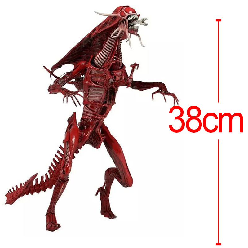 15 38cm High-quality Aliens Predator NECA Xenomorph Alien Red Queen Mother PVC action Figure Doll Collectible Model toys neca alien xenomorph pvc action figure collectible model toy 19cm