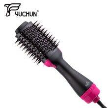 цены на Hair Straightener Curler Iron 3 in 1 Multi functional Hair Dryer Volumizer Rotating Hair Brush Roller Rotate Styler Comb Brush  в интернет-магазинах