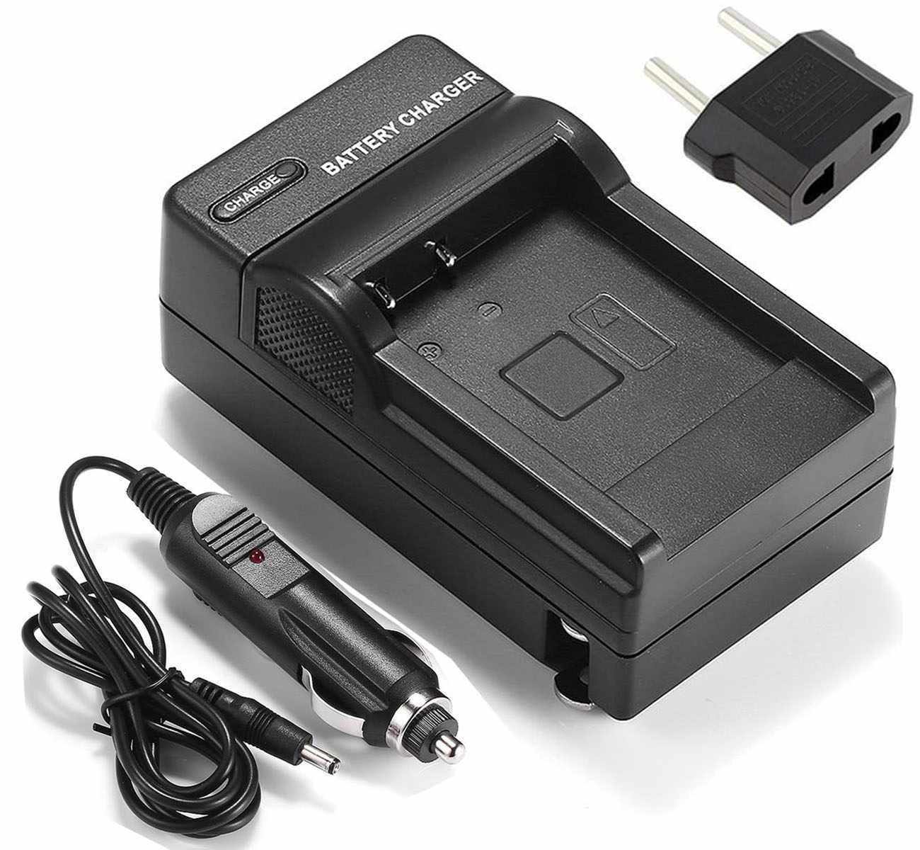 VP-D655i Digital Camcorder Battery VP-D655 VP-D653 VP-D653i and Charger for Samsung VP-D651 2-Pack VP-D651i