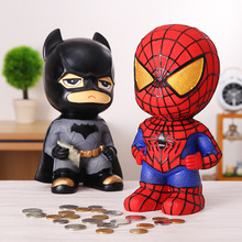 Catman Money Saving Box Home Decoration Spiderman Resin Money Boxes Toy Piggy Banks Gift Kids Money Boxes Coin Piggy Bank