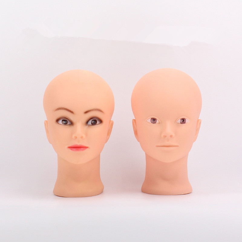 52cm Bald Mannequin Head With Clamp Female Mannequin Head For Wig Making Hat Display Cosmetology Manikin Head For Makeu