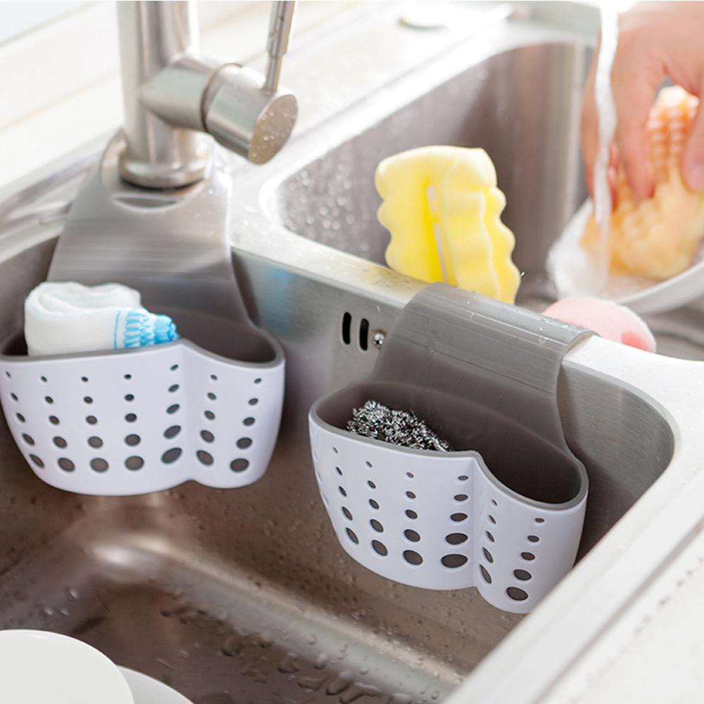 Kitchen Accessories Wash Sink Soap Shelf Sponge Drain Kitchen Stand Bath Storage Kitchen Suction Cup Kitchen Sink Sink