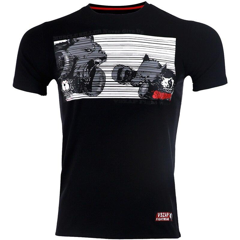VSZAP Муай Тай футболки MMA Бокс Спорт Боевая пригодность эластичные трико брюки толстовки Одежда для бокса