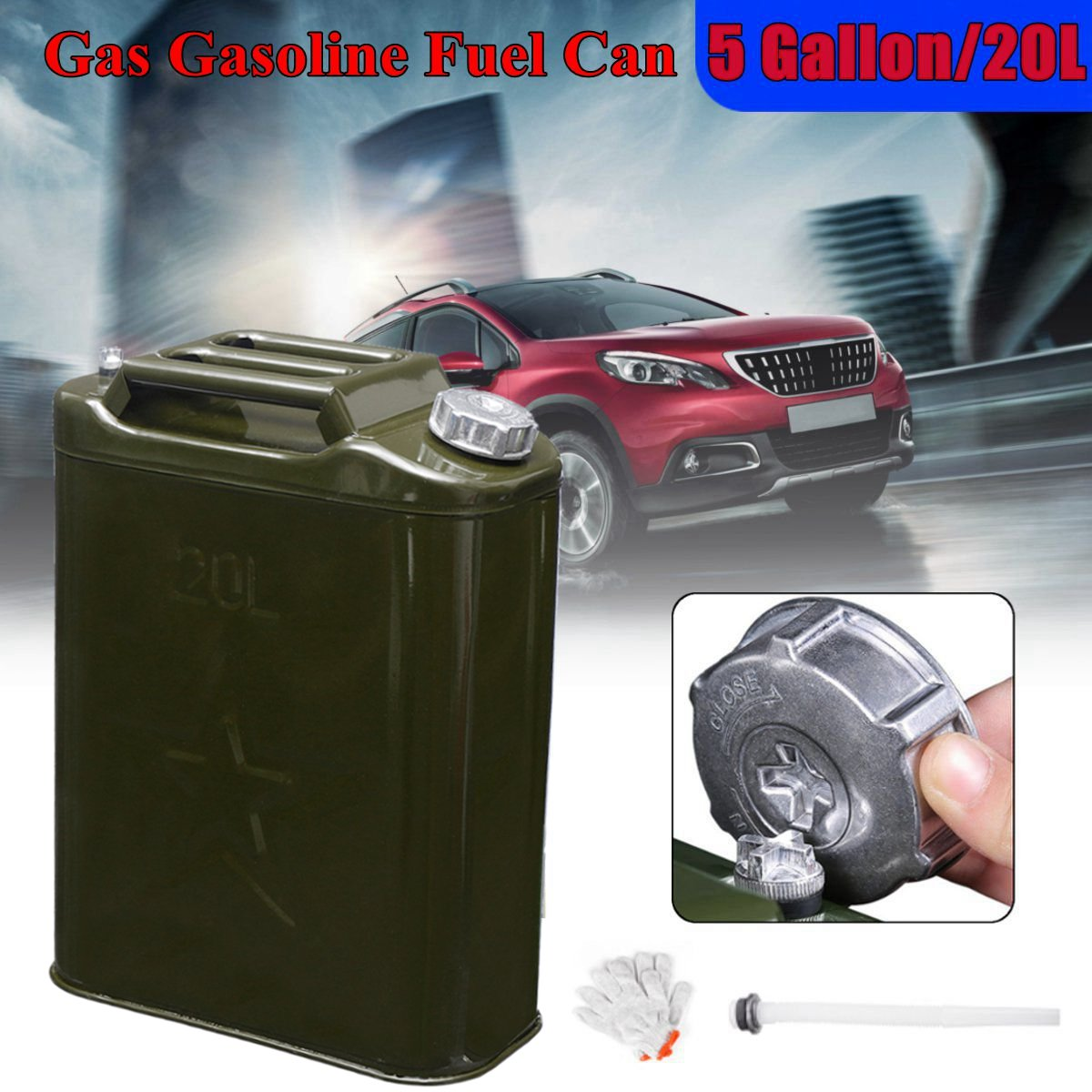5 Gallon 20L Gasoline Fuel Tank Can Metal Iron Alloy Oil Drum Portable Petrol Barrel Car SUV Motorcycle Gasoline Can Tank цена и фото
