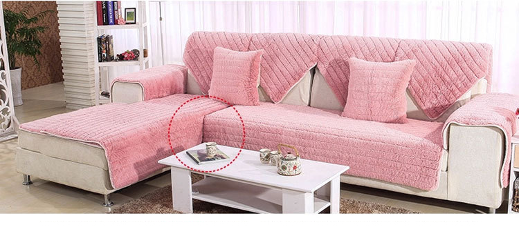 1 Piece Plush Sofa Cover Towel Fluffy Soft Slipcover Resistant Seat ...