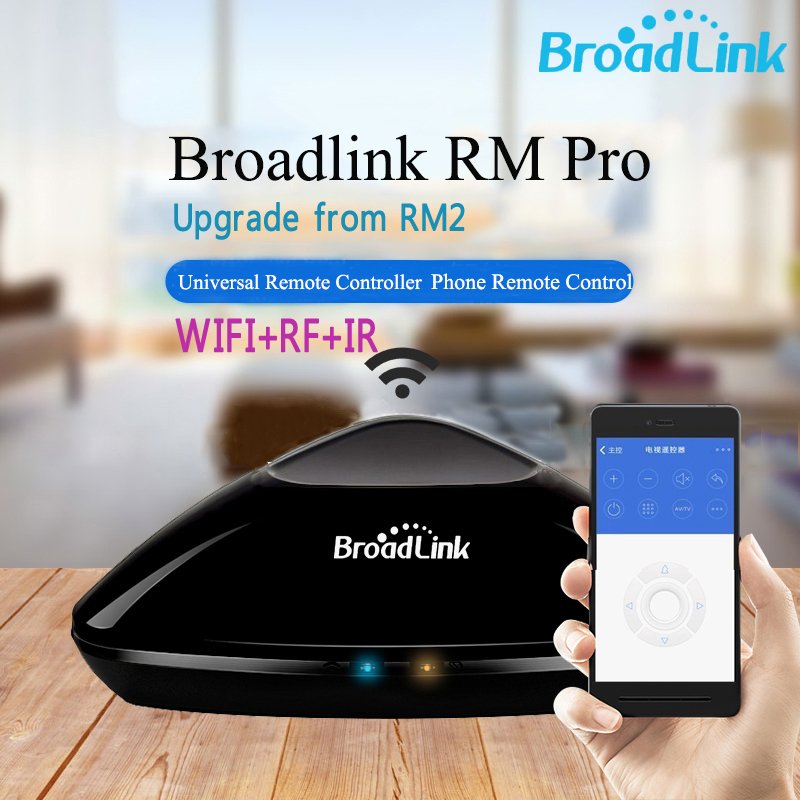Broadlink RM Pro 2018 New RM33 Universal Intelligent Remote Controller Smart Home Automation WiFi+IR+RF Switch For IOS Android