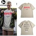 Purpose Tour Summer Fashion Short Sleeve T-shirt Men Women Cotton O-Neck Lovers Tees Justin Bieber  Letter T Shirt